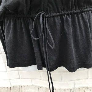 Splendid Tops - Splendid Black Long Sleeve Top Drawstring Waist
